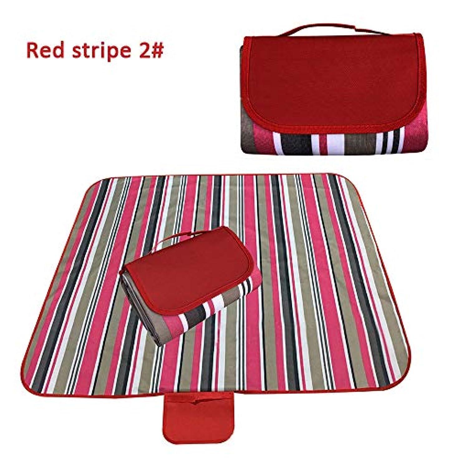 交差点ピジンミットKIICN ピクニック毛布ポータブル折りたたみキャンプマット 実用的なピクニックマット耐湿性パッドキャンプ布多機能屋外ストライプ丈夫