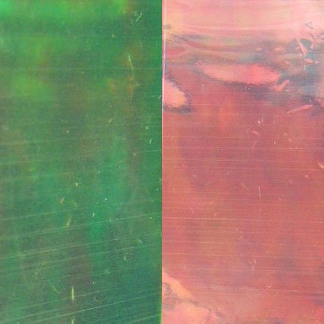 髄み転用MysticFlakes ネイルアートフィルム 3号紅光 (約25×40mm×5枚)