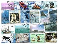 コレクターのためのオーストラリア南極領土AAT 100種類のスタンプコレクション混合パケットスタンプ