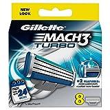 ジレット マッハ 3 ターボ 替刃8個入 Gillette Mach 3 Turbo [並行輸入品]