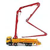 KAIDIWEI 車模型 コンクリートポンプ車 重機 ポンプ車 高品質 1/55スケール 合金製 オレンジ モデルカー 工事車 子供 おもちゃ プレゼント 建築模型 教育 写真に