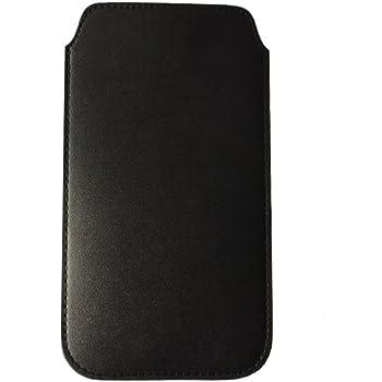 iPhone SE ポーチ 4.0インチ スリップインケース スリーブ PU レザー 軽量 出し入れ容易 全面保護 iPhone SE / 5S / 5 スマホポーチ 収納バッグ インナーケース ブラック (iPhone SE/5S/5, ブラック) [並行輸入品]