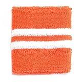 リストバンド 大人用 wristband-07-19.オレンジベース白ライン / スポーツ ダンス リストウォーマー