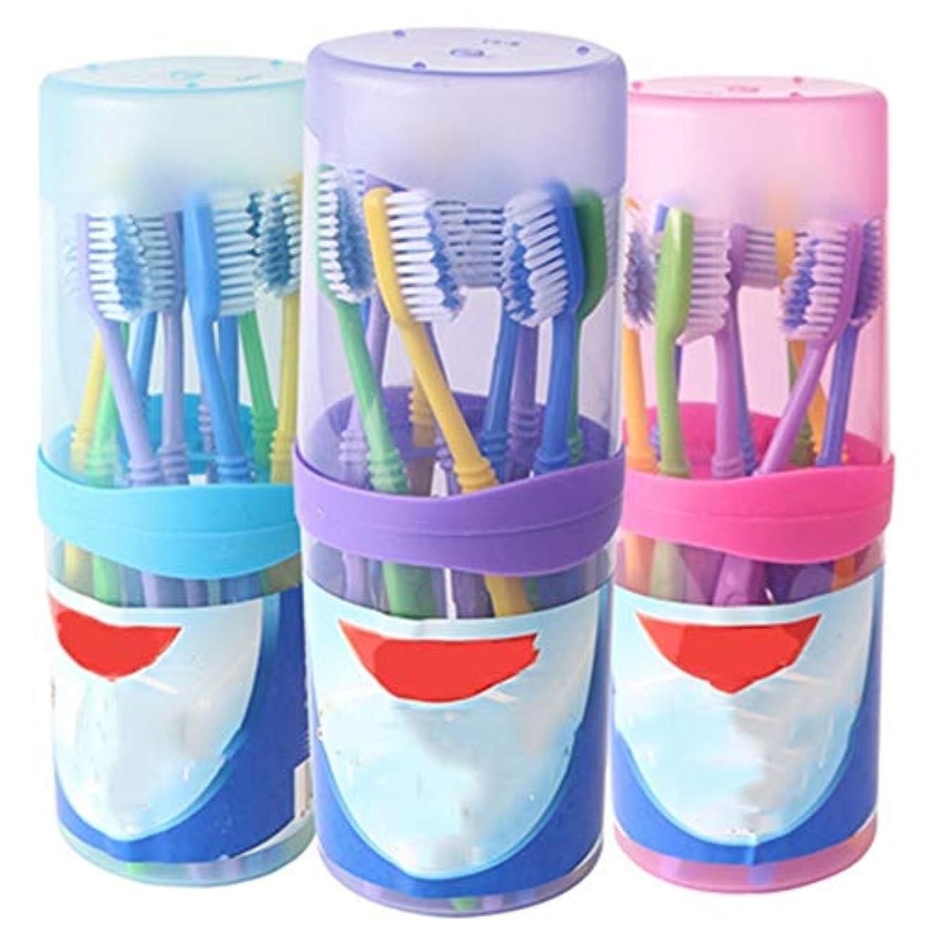 触覚スリップ口歯ブラシ 30本の歯ブラシ、バルク大人歯ブラシ、歯茎のためのクリーンタルタルとケア - 使用可能なスタイルの2種類 HL (色 : A, サイズ : 30 packs)