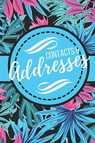 Contacts & Addresses: Pretty Purple & Blue with Floral Design (6