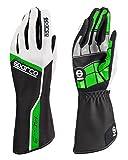 SPARCO スパルコ レーシンググローブ TRACK KG-3 ブラック/グリーン 8(Sサイズ)
