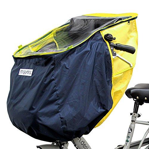 ハガビー (Huggabee) 自転車 チャイルドシート レインカバー フロント用 前用 イエロー