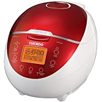Cuckoo CR-0655F 6 Cup Electric Warmer Rice Cooker, 110v, Red by Cuckoo