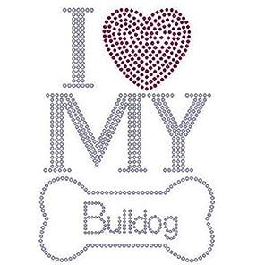 I Love My Bulldogラインストーン転送
