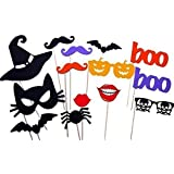 Halloween Masks, Halloween Photo Booth Props, Party Decorations,NO DIY REQUIRED, on a stick ready to be used by usa-sales