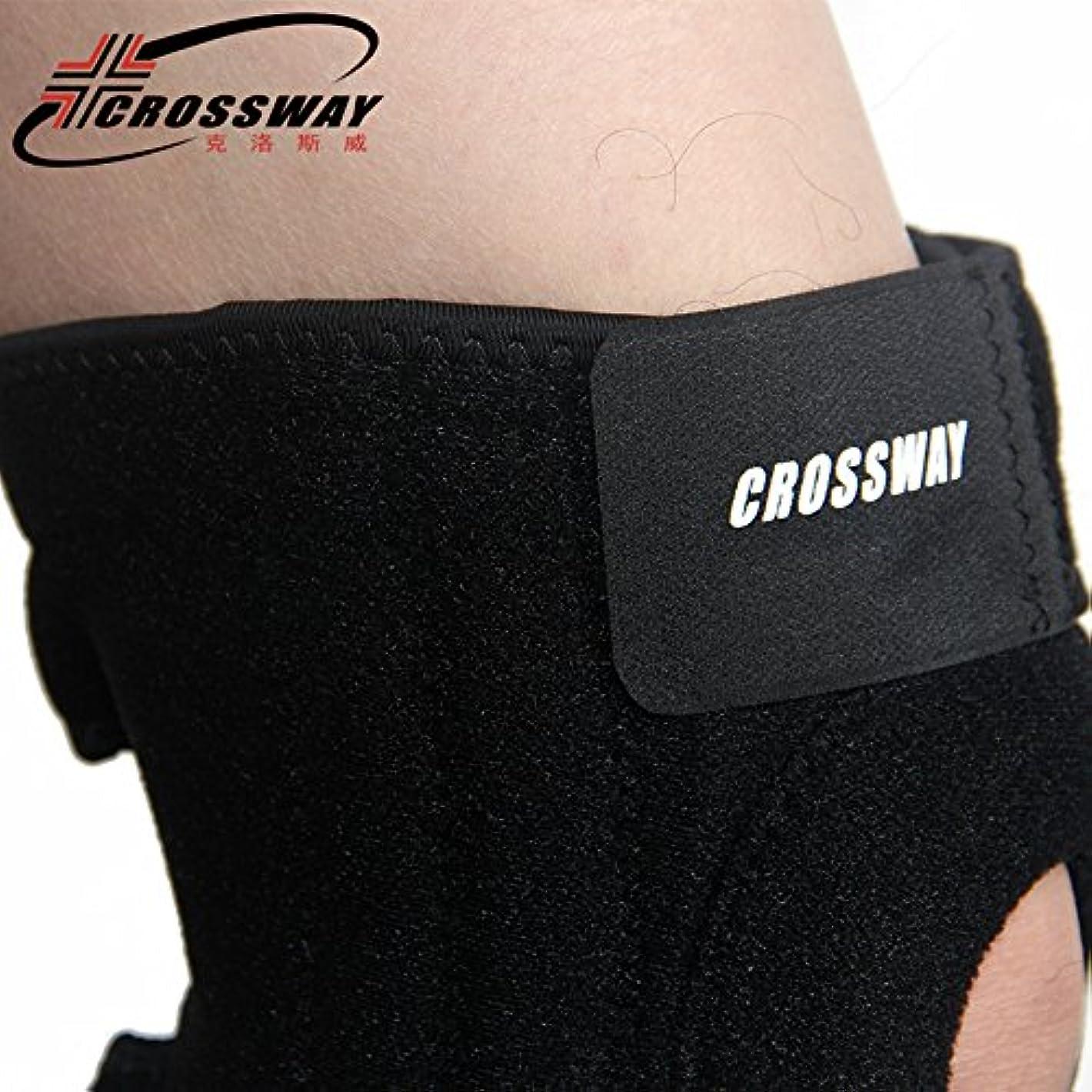 サイクロプス遊具チャペルZIME 膝のブレース、調節可能なブレースと内蔵のスプリングジョイント保護ギア、弱いまたは過度のストレスを受けた膝の快適な圧縮を提供 (内蔵2スプリング)