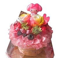 マイメロ入り 花 フラワーケーキ レインボーローズ プリザーブドフラワー入り ケース付き マイメロディ入り 花