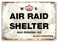 wtf |空襲シェルター - 戦争事務所|スティッキーパッド - 金属製の壁看板プラークアートインスピレーション