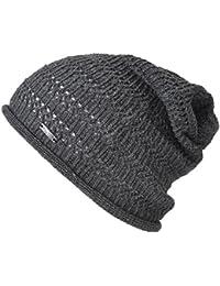 (カジュアルボックス)CasualBox Hemp メッシュ 無縫製 ルーズワッチ フリーサイズ サマーニット帽 麻 シームレス charm チャーム
