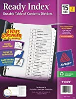 Avery Ready Index Table of Contents Dividers 15-Tab 3 Sets (11079) [並行輸入品]