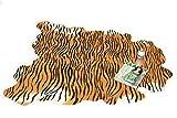 アニマルプリント ラグマット 敷物 じゅうたん カーペット フロアマット タイガー(ブラウン)