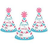 Chevron Gender Reveal – Mini円錐Gender Reveal Party Hats – Small Little Party Hats – 10のセット