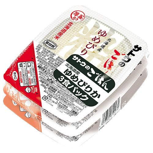 サトウ食品 サトウのごはん 北海道産ゆめぴりか 3食パック 200g×3食×12個入