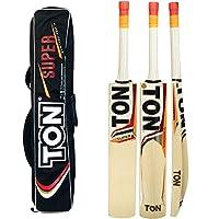 SS Cricket Bat tonスーパー英語Willow by Sunridges with Free SS Batカバー–最新2016–2017Bat (ショートハンドル)