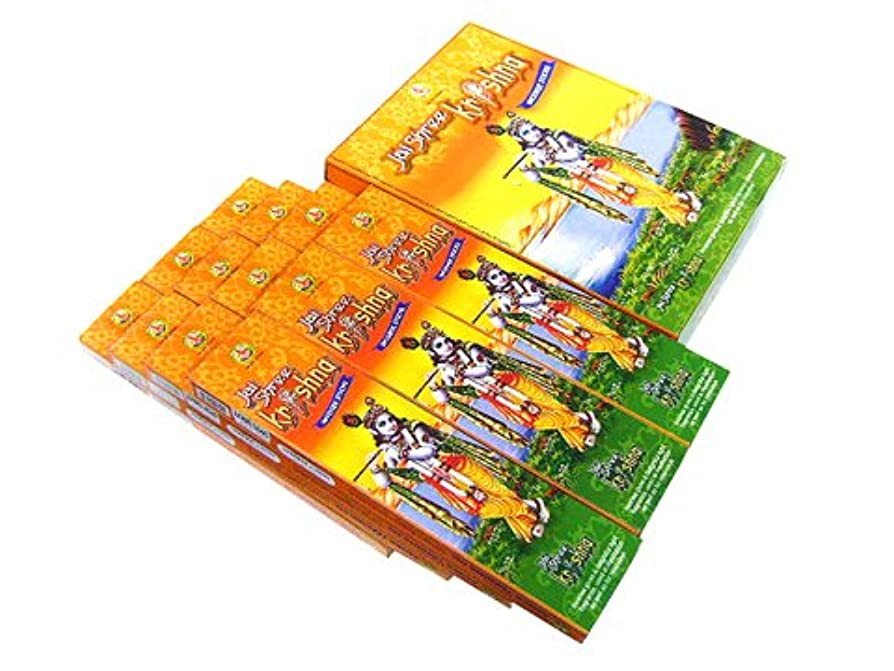 異邦人一族伝染性のASOKA TRADING(アショーカ トレーディング) クリシュナ香 スティック JAI SHREE KRISHNA 12箱セット