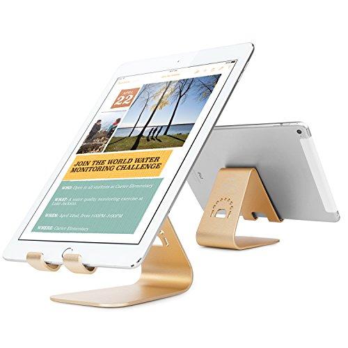Spinido® iPad/iPad mini/iPad air/Nexus/Kindle 対応 アルミニウム合金 デスクスタンド/タブレット用スタンド (iPad, gold)
