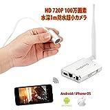 GooQee ネットワークカメラ WIFI対応 720P HD 100万画素 スパイ 防犯用 アウトドア インドア IP67水深1m防水 屋外防滴 2.4G P2P POE 警報機能 リアルタイム監視 日本語対応アプリ 日本語取扱説明書付き Android ios mac 対応 シルバー NC009PW