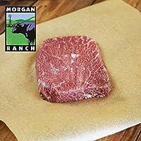 モーガン牧場ビーフ アメリカ産 牛肉 熟成 高品質 ミスジステーキ アメリカンビーフ ホルモン剤や抗生物質不使用 180g x 3枚