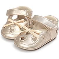 Save Beautiful Infant Toddler Baby Girls Mary Jane Slippers Soft Sole PU Leather No-Slip Princess First Walkers Shoes