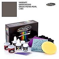 Maserati GranTurismo / Grigio Pietraパール–l1001/カラーNドライブタッチアップペイントシステムペイントチップスクラッチ/プラスパック