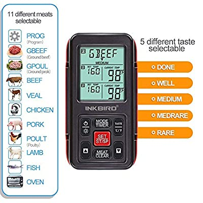 Inkbird IRF-2S Wireless Thermometer With Three Probes
