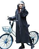 レインコート レディース メンズ hotfugu レインウェア ロング レインポンチョ 自転車 バイク 雨具 作業服 超軽量 厚手 新型素材 魔法レインコート 防風防水 羽織 雨合羽 雨着 通勤通学 男女兼用 4WAY