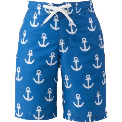 (ヘリーハンセン)HELLY HANSEN Anchor Print Water Shorts HE71501 B ブルー L