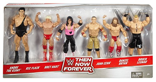 WWE Wrestling Then Now Forever Action Figure 6-Pack