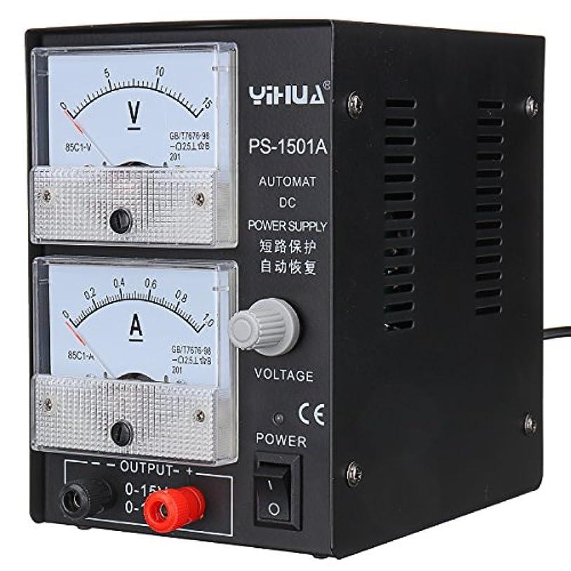 ドルナット回転させるBeho イフア 1501A 15V 1a 調節可能な DC 電源の携帯電話の修理力テストは調節された電源を供給します - 220v EU プラグ