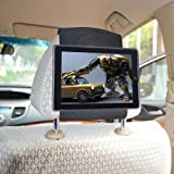 TFY iPad 4 / iPad 3 / iPad 2 Car Headrest Mount Holder–Fast-Attach Fast-Release Edition - Black