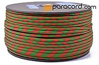 Boredパラコードブランド550タイプIIIパラコード–ネオン緑とオレンジ50/ 50–250フィートスプール