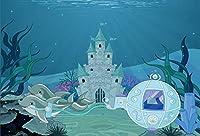 Yeele写真の背景幕–5x 4ft under the seaリトルマーメイドプリンセス城Dolphin Ocean Nautical誕生日パーティーバナーフォトスタジオブース背景新生児赤ちゃんシャワーPhotocall
