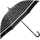 [ムーンバット] LANVIN en Blue(ランバン オン ブルー) 晴雨兼用傘 ショート傘 遮熱加工 遮光 ボーダー スカラ刺繍