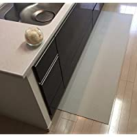 300 cm x 50 cm 洗濯いらず ずれない 抗菌 ふく楽 キッチン マット オフホワイト 4573213472736