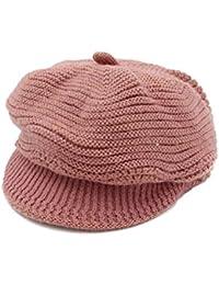 レディース 秋冬 上品 女性 暖かい 厚手 かわいい 帽子 編みニットキャップ 加絨 ニットベレー