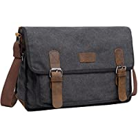 Canvas Messenger Shoulder Bag For Men Berchirly Vintage Military Tactical Field Bag Crossbody Sling Bag For 15.6 Inch Laptop