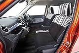 スマートモノトーン 前席シートカバー(1席) 軽自動車・小型車 マルチストライプ (グレー/ブラック)
