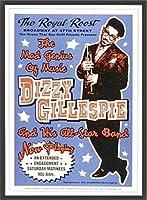 ポスター ディジー ガレスピー ディジー ガレスピー - ロイヤルルーストニューヨーク市、1948 - 額装品 ウッドベーシックフレーム(ブラック)