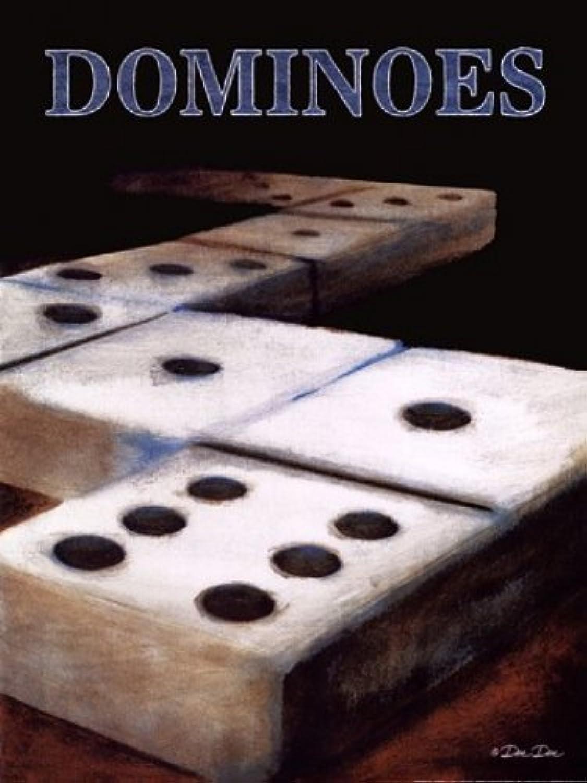 Dominoes by Dee Dee – 12 x 16アートプリントポスター