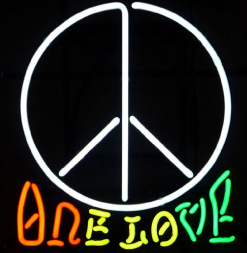 ONE LOVE LOVE&PEACE NEON SIGN ...
