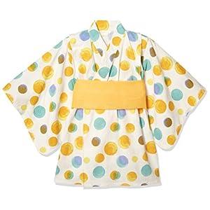 [タキヒヨー] 水玉柄浴衣風ワンピース ガールズ 342447211 オレンジ 日本 120 (日本サイズ120 相当)