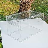 ダルクラフト 全透明アクリル製 爬虫類用 飼育ケージ タブネジで固め (25x15x15cm)