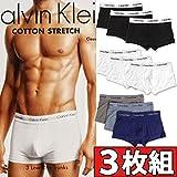 カルバンクライン (カルバンクライン) Calvin Klein ボクサーパンツ ローライズ 3枚組みセット COTTON STRETCH 3 PACK LOW RISE TRUNK メンズ [並行輸入品]