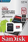 microSDXC 64GB SanDisk サンディスク UHS-1 超高速U1 FULL HD アプリ最適化 Rated A1対応 専用SDアダプター付 [並行輸入品]