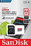 microSDXC 64GB 【2年保証】SanDisk サンディスク UHS-1 超高速U1 FULL HD アプリ最適化 Rated A1対応 専用SDアダプ付 海外向パッケージ品 [並行輸入品]
